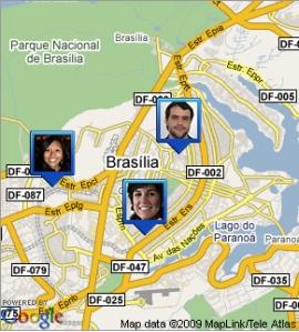 Google Latitude com localização de pessoas
