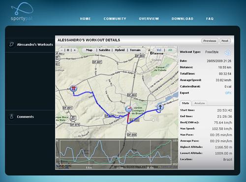 SportyPal-GPS Tracker Sportypal-web